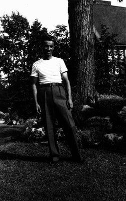 Stuart Macdonald age 20, 1936.  Toronto, ON.