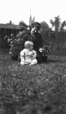 Stuart with Edith, ca.1915.  Leaskdale, ON.