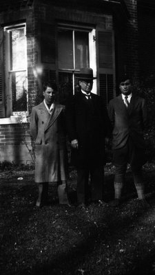 Stuart, Ewan & Chester, ca.1930, Norval, ON.