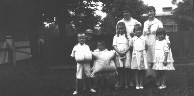 Stuart & Chester with Mary Beal and her children, ca.1920.  Toronto, ON.