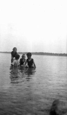 Stuart & Chester with Beal children (Pat & Mac), ca.1920.
