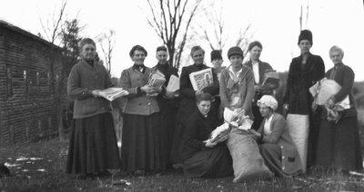 Red Cross workers, ca.1916.  Leaskdale, ON.