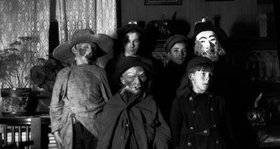 Lucy Maud Montgomery's halloween masks for children, ca.1922.  Leaskdale, ON.