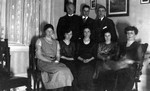 Guild Executive including Ewan & Lucy Maud Montgomery, ca.1920's.  Leaskdale, ON.