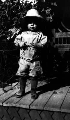 Chester Macdonald, age 2, ca.1914.  Leaskdale, ON.