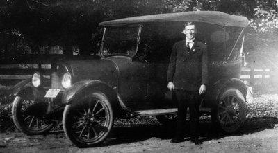 Rev. Edwin Smith, ca.1921.  Leaskdale, ON.