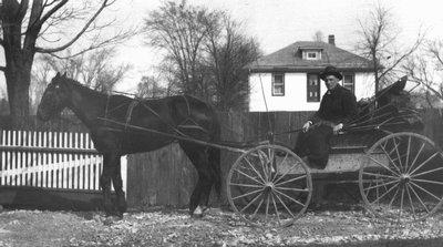 Mr. Crew - the mailman, ca.1915 (?).  Leaskdale, ON.