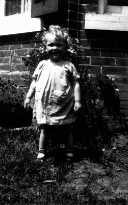 Unidentified little girl, ca.1930.  Norval, ON.