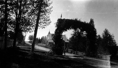Arch for regiment.  Leaskdale, ON.