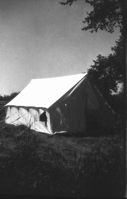 Stuart Macdonald's tent, Norval, ON.