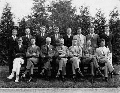 Stuart Macdonald in unidentified group, c.1935