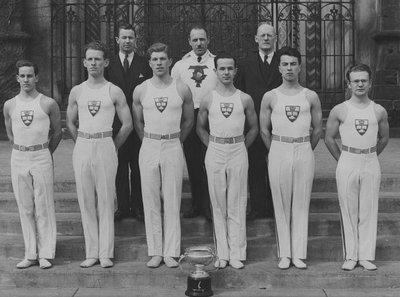 University of Toronto Gymnastic Team.  Stuart Macdonald, 1933-34.