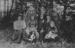 Lucy Maud Montgomery with MacNeill group.  Cavendish, P.E.I.
