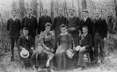 3rd year students at Prince of Wales College, Charlottetown, P.E.I., ca.1893-94.