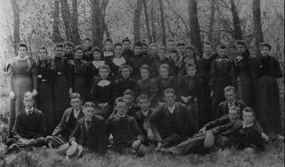 1st year students at Prince of Wales College.  Charlottetown, P.E.I., ca.1893-95.