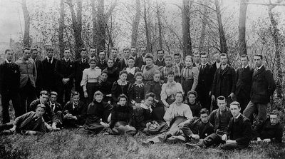 2nd year students at Prince of Wales College.  Charlottetown, P.E.I., ca.1893-95.  (Front Lucy Maud Montgomery).