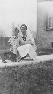 Stuart Macdonald & Edith.  Leaskdale, ON, ca.1917.