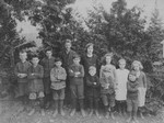 Group of children, including Stuart and Chester, ca.1920.