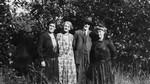 Myrtle Webb, May, Alec, Ella, Park Corners, P.E.I., ca.1926.