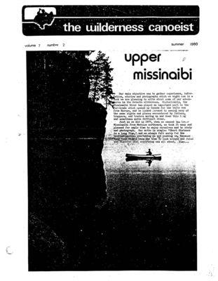 Nastawgan (Richmond Hill, ON: Wilderness Canoe Association), Summer 1980