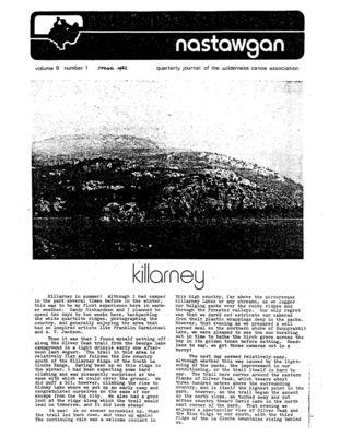 Nastawgan (Richmond Hill, ON: Wilderness Canoe Association), Spring Issue