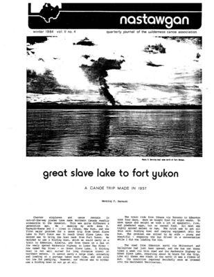 Nastawgan (Richmond Hill, ON: Wilderness Canoe Association), Winter 1984