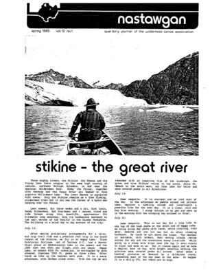 Nastawgan (Richmond Hill, ON: Wilderness Canoe Association), Spring 1985