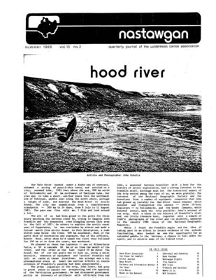 Nastawgan (Richmond Hill, ON: Wilderness Canoe Association), Summer 1986