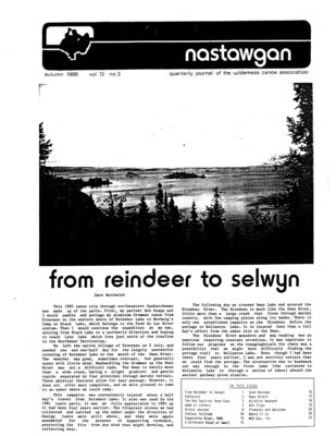 Nastawgan (Richmond Hill, ON: Wilderness Canoe Association), Fall 1986