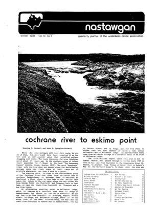 Nastawgan (Richmond Hill, ON: Wilderness Canoe Association), Winter 1986