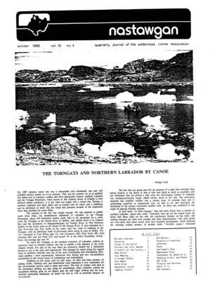 Nastawgan (Richmond Hill, ON: Wilderness Canoe Association), Winter 1988