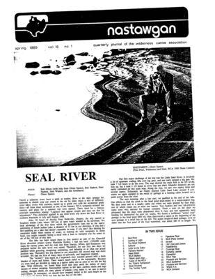 Nastawgan (Richmond Hill, ON: Wilderness Canoe Association), Spring 1989