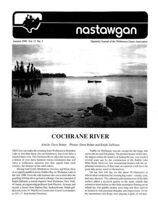 Nastawgan (Richmond Hill, ON: Wilderness Canoe Association), Fall 1990