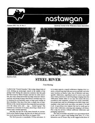 Nastawgan (Richmond Hill, ON: Wilderness Canoe Association), Fall 1992