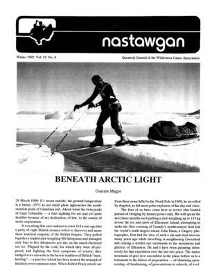 Nastawgan (Richmond Hill, ON: Wilderness Canoe Association), Winter 1992