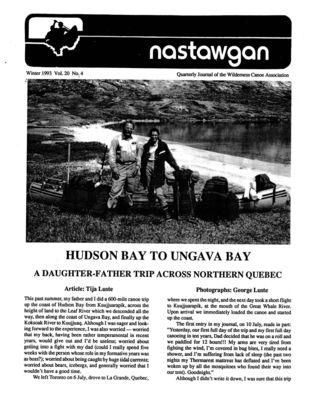 Nastawgan (Richmond Hill, ON: Wilderness Canoe Association), Winter 1993