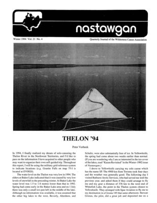 Nastawgan (Richmond Hill, ON: Wilderness Canoe Association), Winter 1994