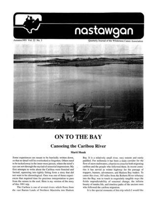 Nastawgan (Richmond Hill, ON: Wilderness Canoe Association), Fall 1995