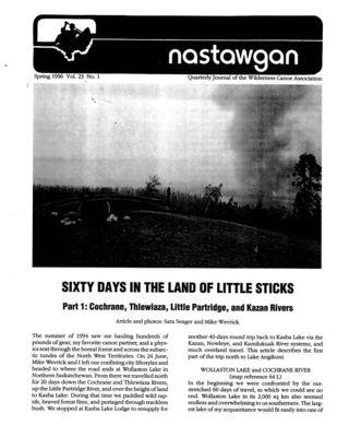 Nastawgan (Richmond Hill, ON: Wilderness Canoe Association), 1 Mar 1996
