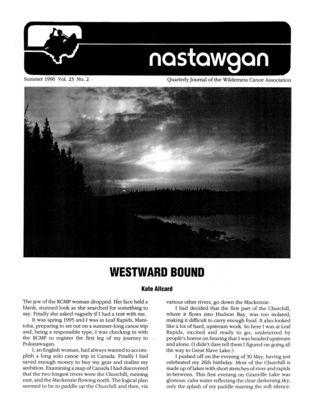 Nastawgan (Richmond Hill, ON: Wilderness Canoe Association), Summer 2007