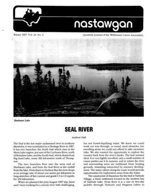 Nastawgan (Richmond Hill, ON: Wilderness Canoe Association), Winter 1997