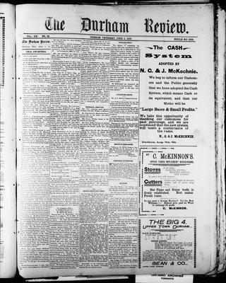 Durham Review (1897), 2 Jun 1898