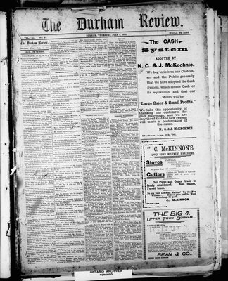 Durham Review (1897), 7 Jul 1898