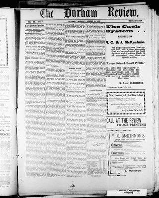 Durham Review (1897), 25 Aug 1898