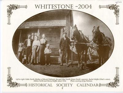 Whitestone Historical Society Calender - 2004