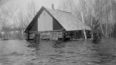 Flooded Cabin on Maple Island, 1922