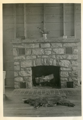 Fireplace, the Karbehuwe House, 1937