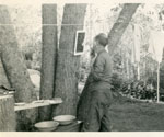 Shaving Outside Karbehuwe Cabin, circa 1937