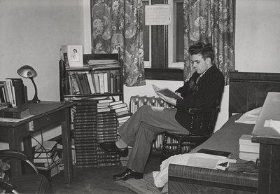 Arthur Conrad in residence room