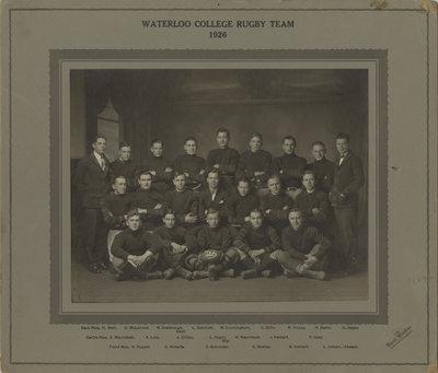 Waterloo College rugby team, 1926